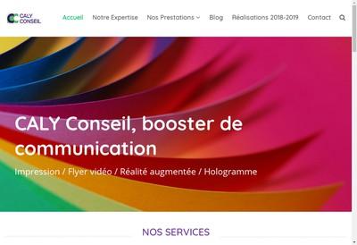 Site internet de Caly Conseil