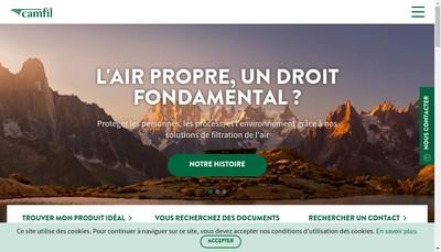 Site internet de Camfil