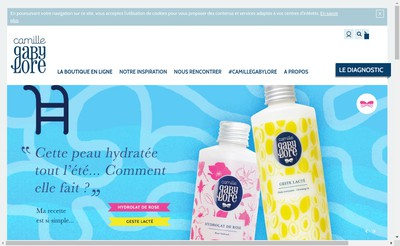 Site internet de Creatissimo Cosmetique
