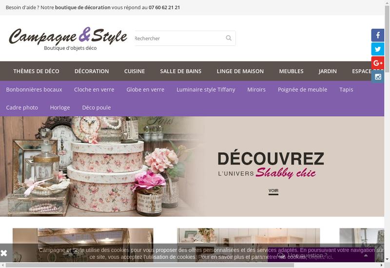 Capture d'écran du site de Campagne et Style Aurakle