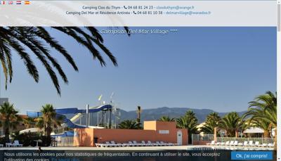 Capture d'écran du site de SAS Del Mar Village