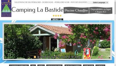 Site internet de Camping de la Bastide