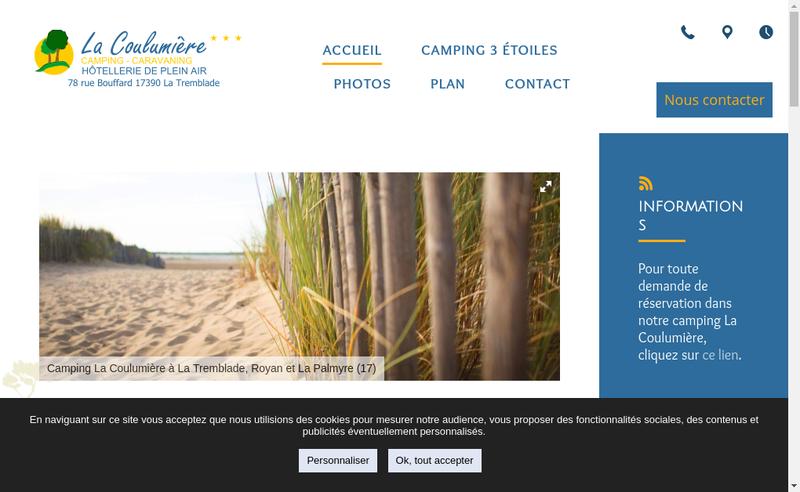 Capture d'écran du site de La Coulumiere