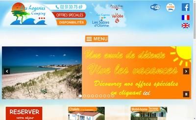 Site internet de Camping les Logeries