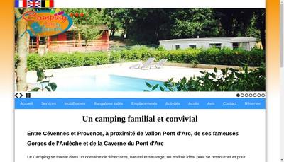 Site internet de camping saint sauvayre