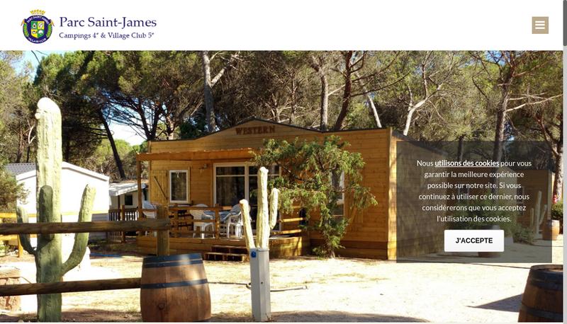 Capture d'écran du site de Parc Saint James