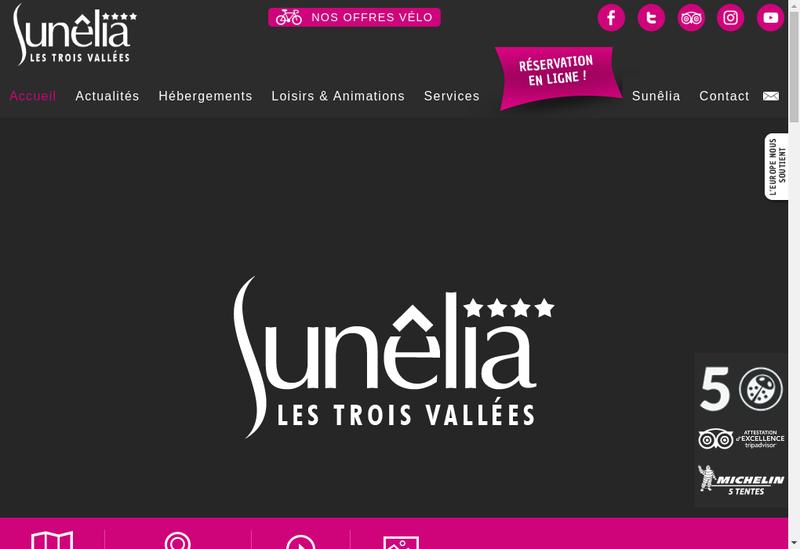 Capture d'écran du site de Camping les 3 Vallees