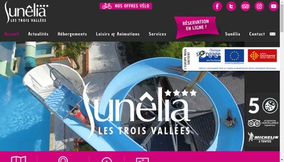 Site internet de Camping les 3 Vallees