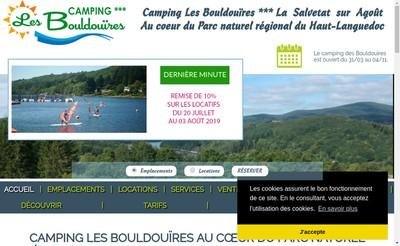 Site internet de Camping les Bouldouires