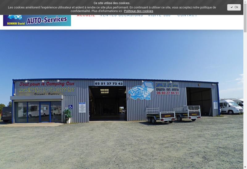 Capture d'écran du site de Camping Car - Auto - Services