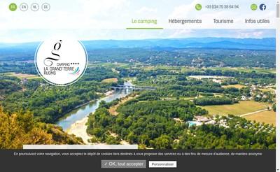 Site internet de Camping la Grand Terre