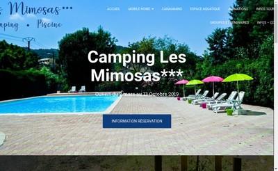 Site internet de Camping les Mimosas
