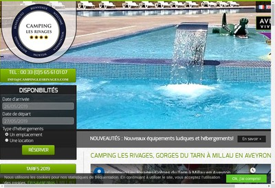 Site internet de Camping les Rivages
