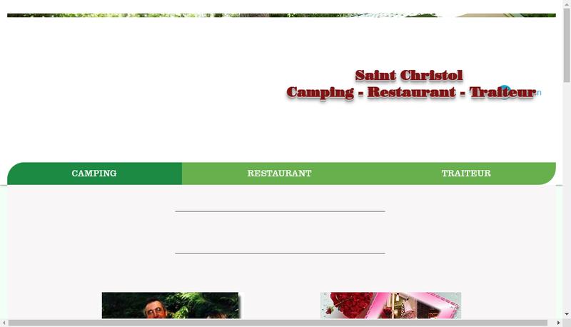 Capture d'écran du site de Camping Saint Christol