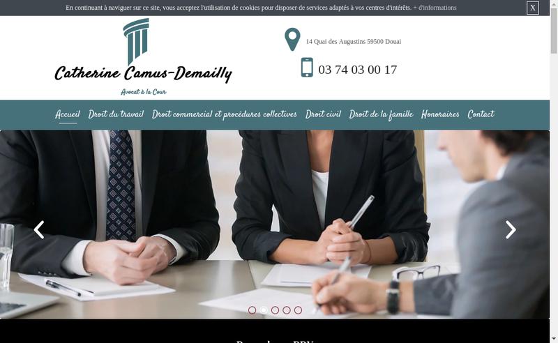 Capture d'écran du site de Catherine Camus