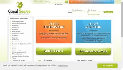 Site internet de Canal-Source Com