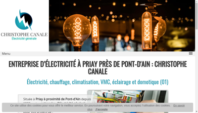 Capture d'écran du site de Canale Christophe Electricite