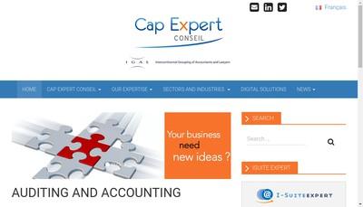 Site internet de Cap Expert Conseil Lille