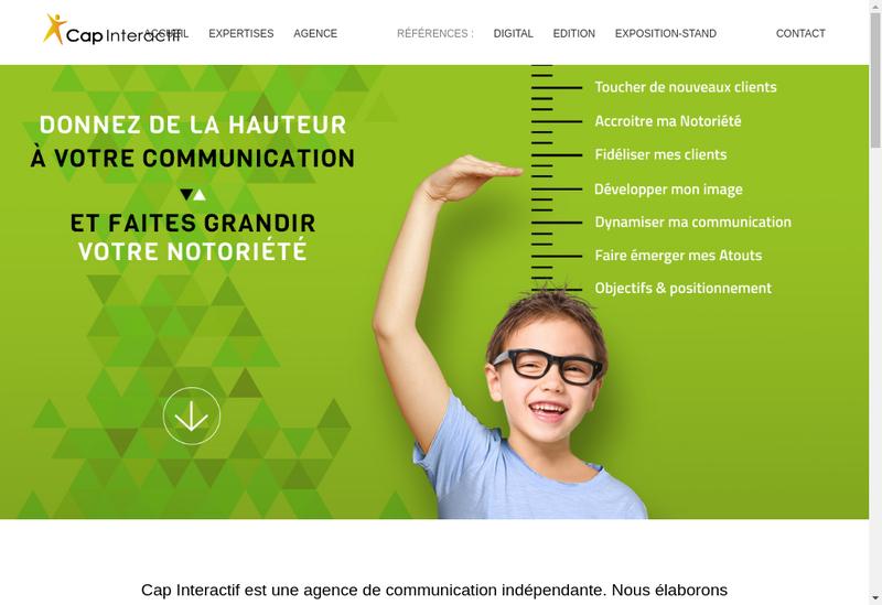 Capture d'écran du site de Cap Interactif