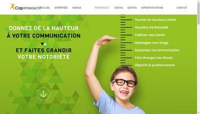 Site internet de Cap Interactif