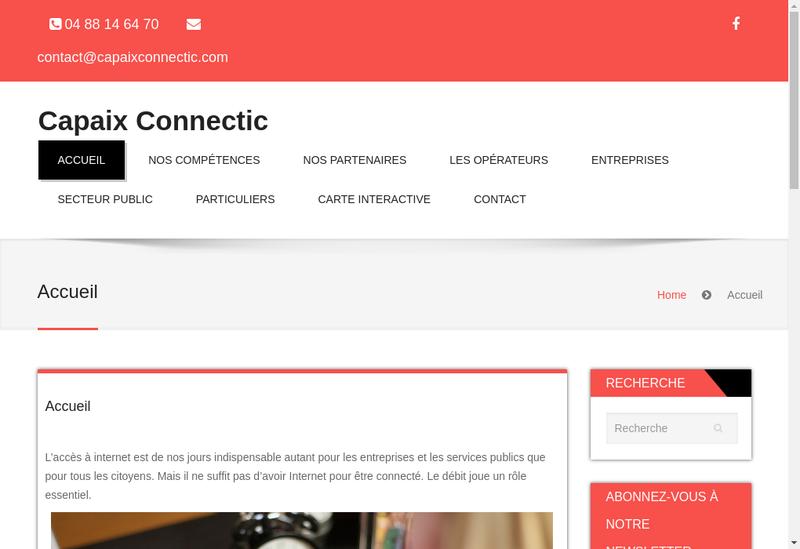 Capture d'écran du site de Cap Aix