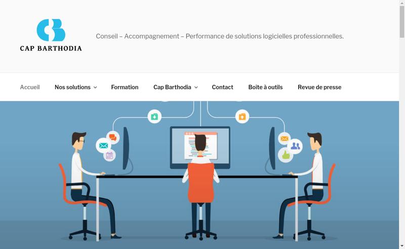 Capture d'écran du site de Cap Barthodia