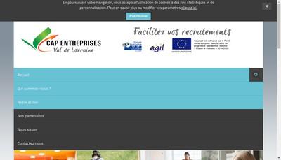 Site internet de Cap Entreprises Val de Lorraine