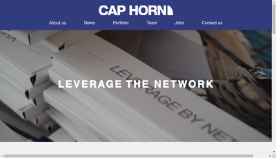 Site internet de Caphorn Invest