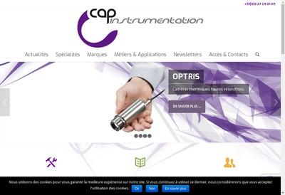 Site internet de Cap Instrumentation