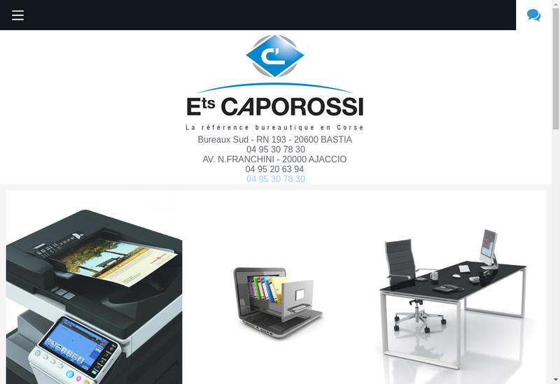 Capture d'écran du site de Societe Exploitation Ets Caporossi