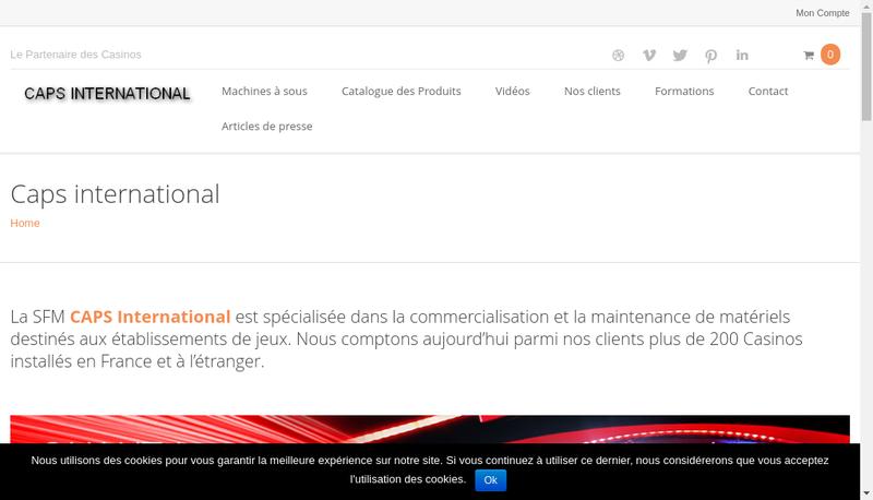 Capture d'écran du site de Caps International