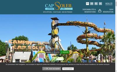 Site internet de Cap Soleil
