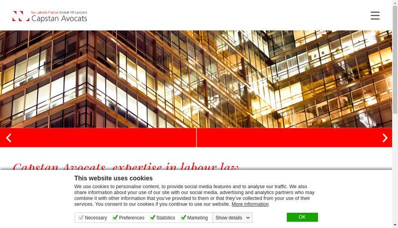 Capture d'écran du site de Capstan Lms