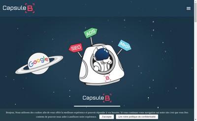 Site internet de Capsule B