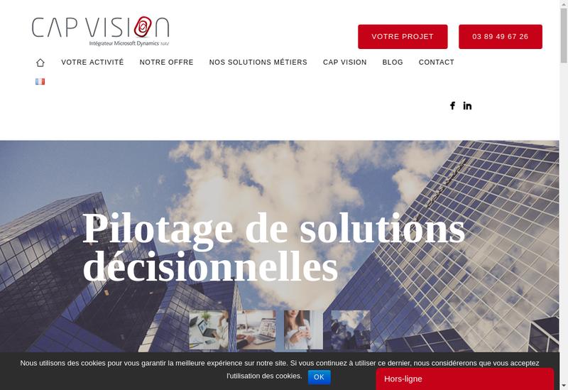 Capture d'écran du site de Cap Vision Group