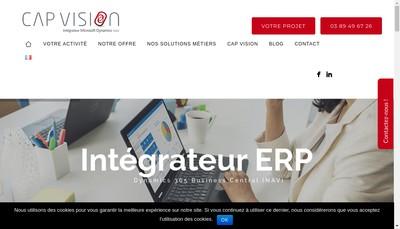 Site internet de Cap Vision