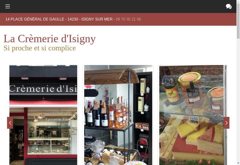 Capture d'écran du site de Viveco la Boucherie d'Isigny