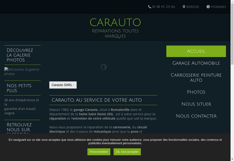 Capture d'écran du site de Carauto