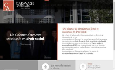 Site internet de Caravage Avocats
