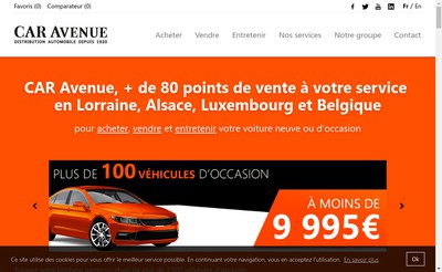 Site internet de Car Avenue France