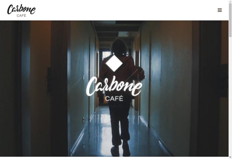 Capture d'écran du site de Carbone Cafe