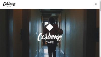 Site internet de Carbone Cafe