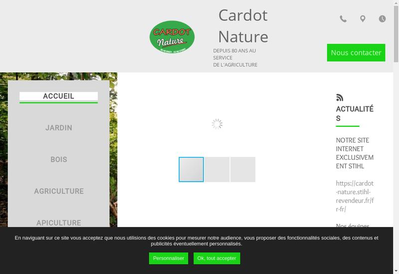Capture d'écran du site de Cardot Nature