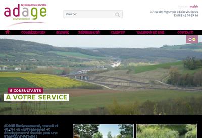 Capture d'écran du site de Carea Facade