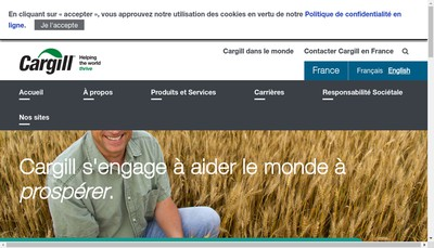 Site internet de Cargill France