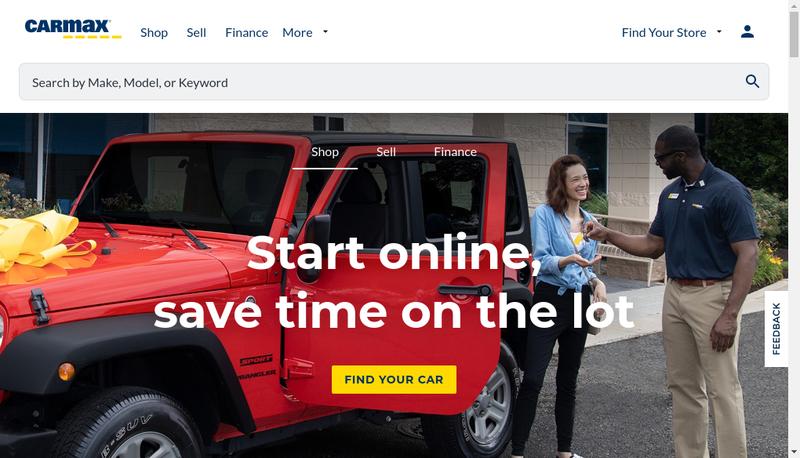 Site internet de Carmax