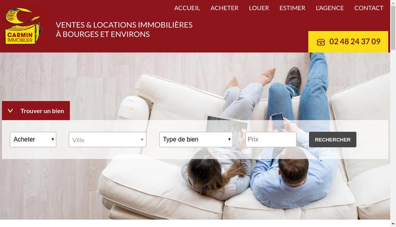 Capture d'écran du site de SARL Carmin Immobilier