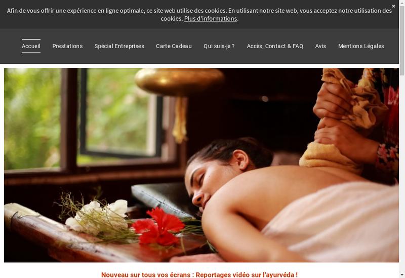 Capture d'écran du site de Carole Thibault Burlet