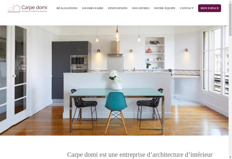Capture d'écran du site de Carpe Domi