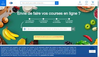 Site internet de Carrefour Contact